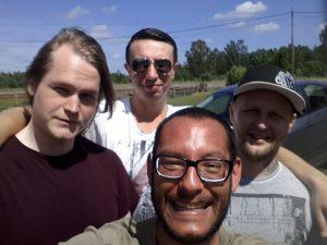 von links: Jim, Dino und Johan
