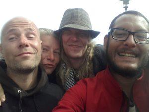 von links: Pasi, Riina und Jukka