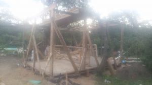 Die erste Reihe des Daches